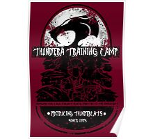 Thundera Training Camp (dark red) Poster