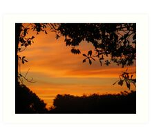 Framing the Sunset Art Print