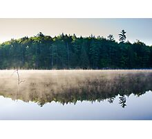Mist over Poker Lake Photographic Print