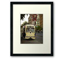 Trolley Stop Framed Print