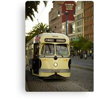 Trolley Stop Canvas Print