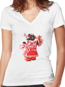 Cheerbot Women's Fitted V-Neck T-Shirt