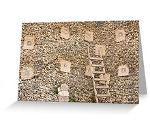 Holding wall Greeting Card