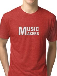 White Music Makers Tri-blend T-Shirt