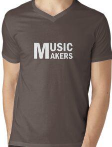 White Music Makers Mens V-Neck T-Shirt