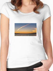 Lake Constance - Sunset Women's Fitted Scoop T-Shirt