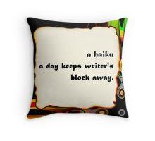 i haiku you Throw Pillow