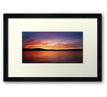 Sunset on Lake Lanier Framed Print