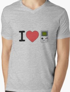 I Heart Games Pixel Art Mens V-Neck T-Shirt