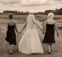 Bride with Bridesmaids by DAltman