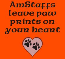 AmStaffs Leave Paw Prints On Your Heart Kids Clothes