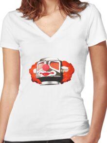 Clownbot Women's Fitted V-Neck T-Shirt