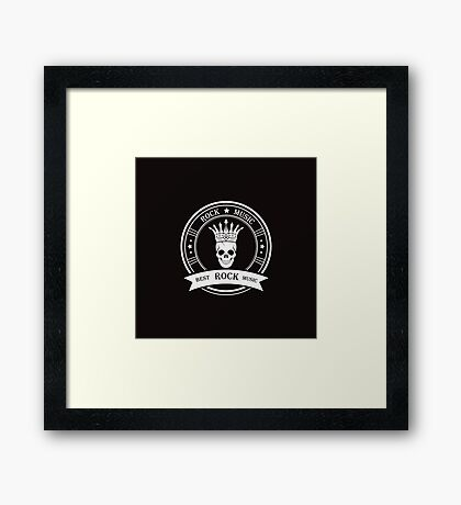 Style of Rock Music Framed Print