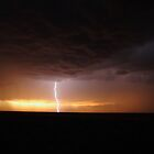 sunset and lightning Colorado USA by jdeguara