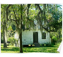 Slave Cabin - Magnolia Plantation Poster