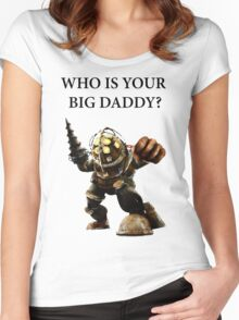 who is your big daddy? Women's Fitted Scoop T-Shirt