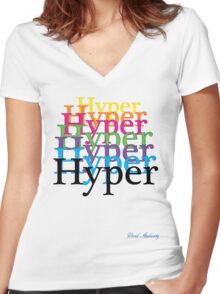 HYPER Women's Fitted V-Neck T-Shirt