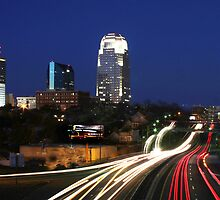 Winston Salem at Night by Robert Woods