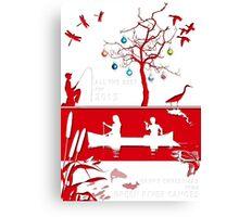 Explore Christmas Paper Cut Canvas Print