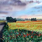 Poppies on Forty Acres Farm near Easingwold by Glenn Marshall