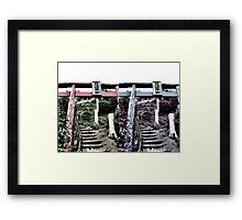 Ascend -into the warp- (Japan) Framed Print