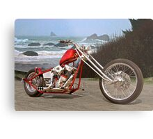 Seaside Chopper Metal Print