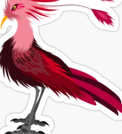 Red Crane Sticker