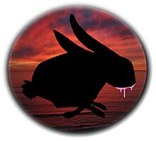 Graffiti Bunny Art Photographic Print