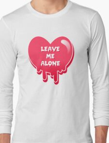 pastel melty heart leave me alone Long Sleeve T-Shirt