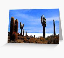 Uyuni Salar Desert Greeting Card