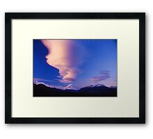 Mountcook sunset Framed Print
