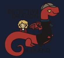 detective dragon & friend - sherlock hobbit parody One Piece - Short Sleeve