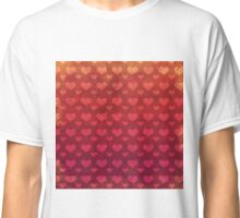 Love Red Pattern Classic T-Shirt