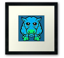 Year Of The Sheep Blue and Green  Framed Print