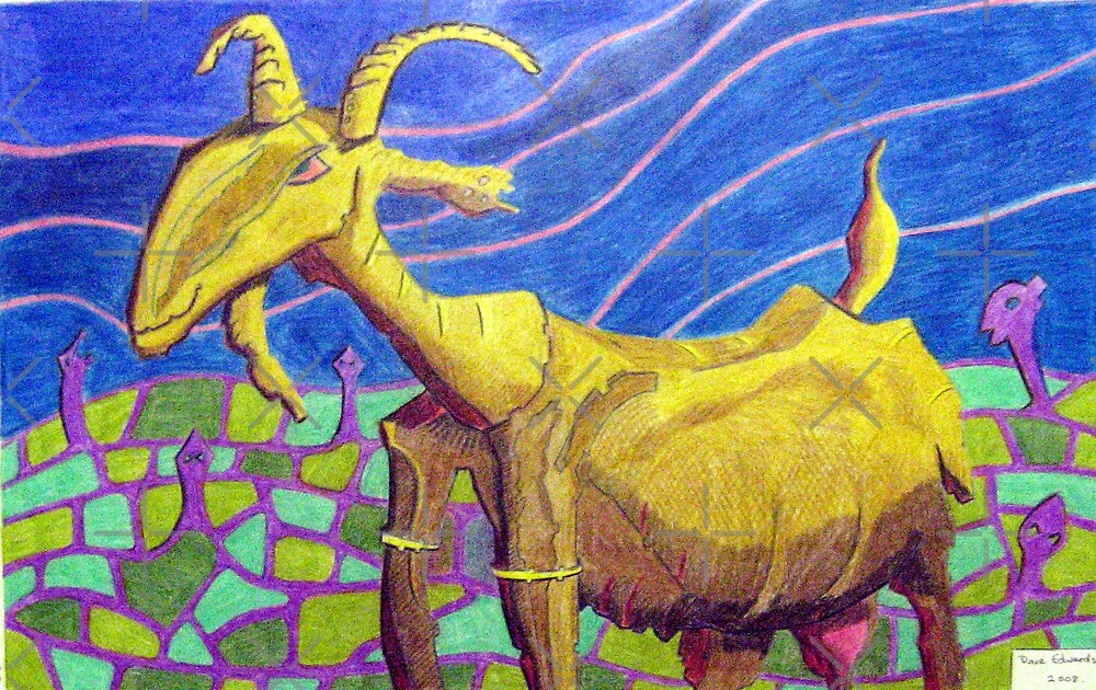 232 - PICASSO'S NANNY GOAT - DAVE EDWARDS - COLOURED PENCILS -  2008 by BLYTHART