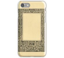 Vintage Book Page With Elder Berries iPhone Case/Skin