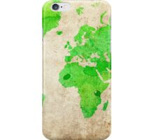 Green Map of the World - World Map for your walls iPhone Case/Skin