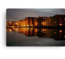 Trondheim at Night Canvas Print
