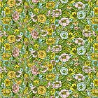 Green Flower Pastel Pattern by Linn Warme