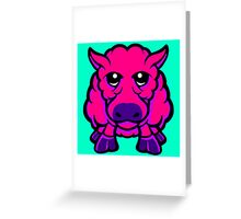 Year Of The Sheep Pink and Purple Greeting Card