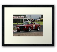 Racing Red Framed Print