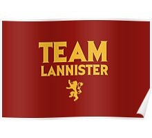 Game of Thrones - Team Lannister. Poster