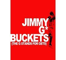 Jimmy G* Buckets Photographic Print