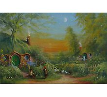 The Shire (Frodo and Sam Making Plans ) Photographic Print