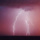 Sunrise lightning Gulgong, NSW Australia by jdeguara