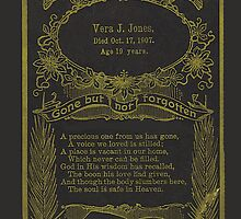 Obituary Card from 1907 by jansnow