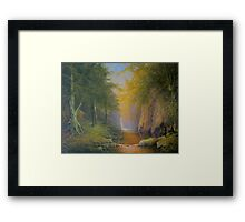 Tree beard Merry and Pippin  In Fangorn Framed Print