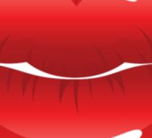 Red lips 5 Sticker
