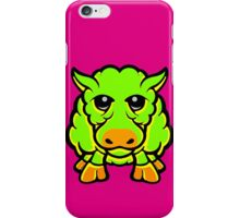Year Of The Sheep Green and Orange iPhone Case/Skin