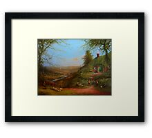 The Day After The Party (Gossip at the gate) Framed Print